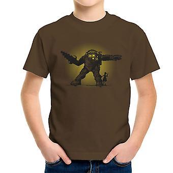 Parre Bond Big Daddy lillesøster BioShock børne T-Shirt