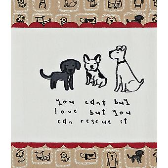 Puppy Dog Cant Buy Love But You Can Rescue It Print Kitchen Dish Towel
