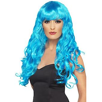 Smiffys Siren Wig Blue Long Curly With Fringe (Costumes)