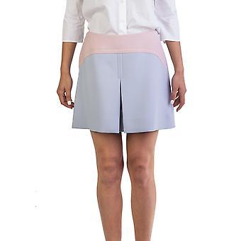 Laine vierge de Miu Miu femmes Vamp jupe bicolore