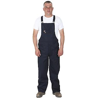 Dickies - Redhawk Bib and Brace - Navy Mens Work Overalls Work Dungarees