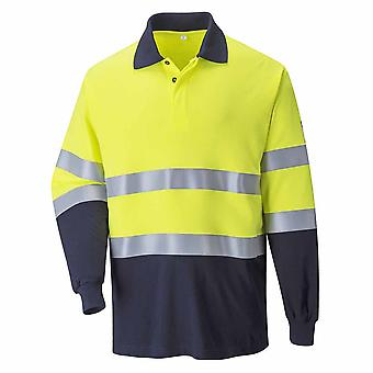 Portwest - Hi-Vis Safety Workwear Flame Resistant Anti-Static TwoTone Polo Shirt