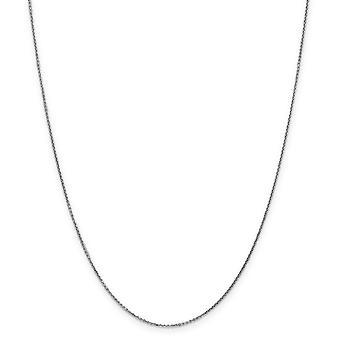 14k oro bianco lucidato Sparkle-Cut Lobster Claw chiusura .95mm cavo solido D-Cut catena - moschettone - lunghezza: 16 a 30
