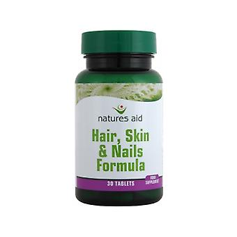 Natures Aid Hair Skin & Nails Formula, 90 tabs. Suitable for Vegans.