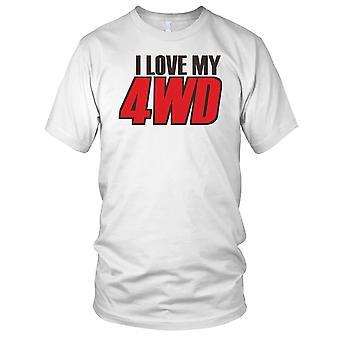 Ik hou van mijn 4WD 4 x 4 Offroad Mens T Shirt
