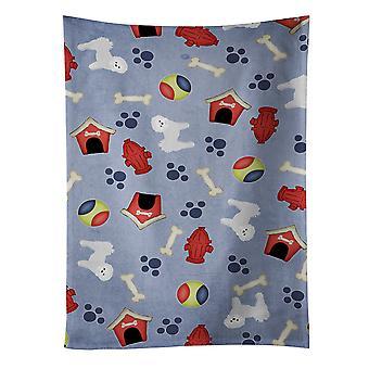 Carolines Treasures  BB4104KTWL Dog House Collection Maltese Kitchen Towel