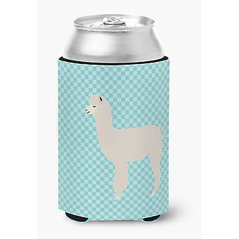 Carolines Treasures  BB8093CC Alpaca Blue Check Can or Bottle Hugger