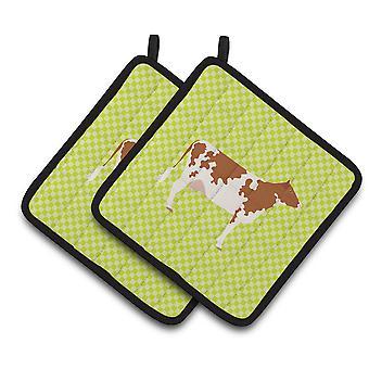 Carolines skatter BB7653PTHD Ayrshire kua grønn par grytekluter