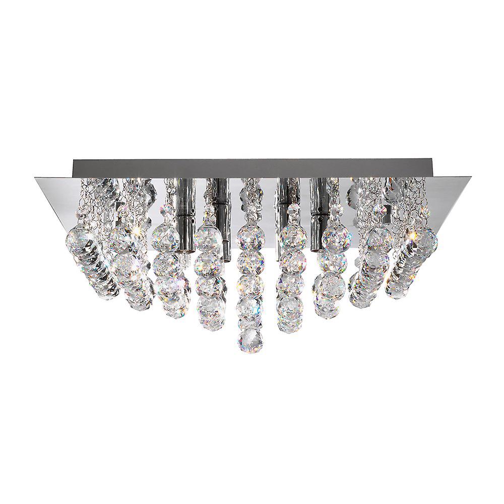 Searchlight 6408-8CC Hanna Square Flush Chrome 8 Light Fitting