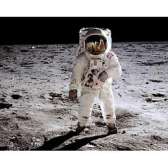 Apollo 11 Astronaut Buzz Aldrin on the Moon July 20 1969 Poster Print by McMahan Photo Archive (10 x 8)