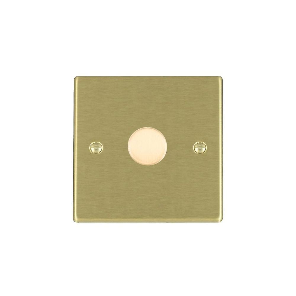 Hamilton Litestat Hartland Satin Brass 1g 200VA 2 Way Dimmer SB