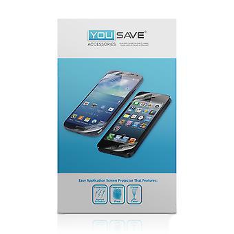 Yousave Blackberry Q5 skärmskydd - 5-Pack