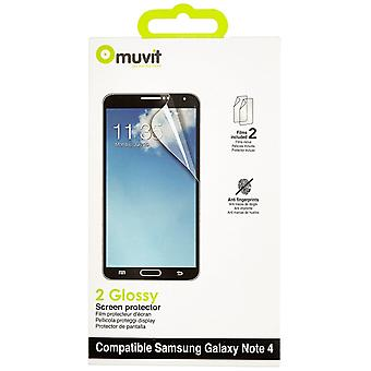 MUVIT Samsung Galaxy touch 4 schermo protector 2x AF lucido
