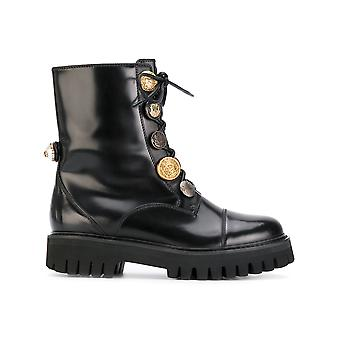 Dolce E Gabbana women's CT0351AC80180999 black leather ankle boots