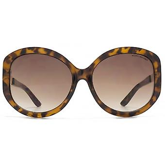 Kurt Geiger Metal Trim Glam Round Sunglasses In Tortoiseshell