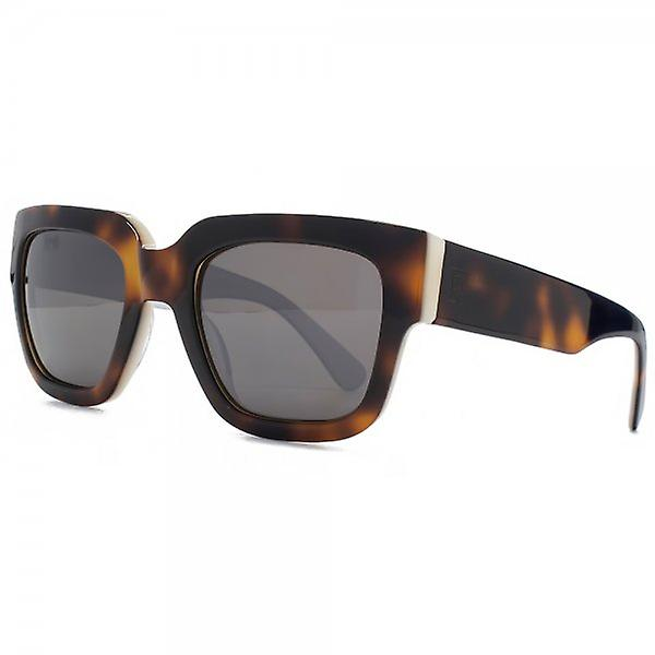French Connection Premium Bold Square Sunglasses In Tortoiseshell On Cream