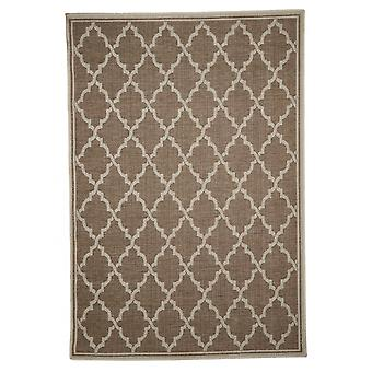 In - and outdoor carpet living room, balcony / terrace brown beige 135 x 190 cm