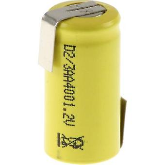 Non-standard battery (rechargeable) 2/3 AA Z solder tab, Flat top NiCd