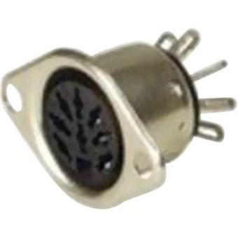 DIN connector Sleeve socket, straight pins Number of pins: 4 Silver Hirschmann MAB 4 1 pc(s)