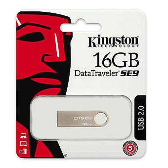 Kingston Technology 16 GB USB 2.0 Data Traveler SE9H Flash Drive with Metal Casing