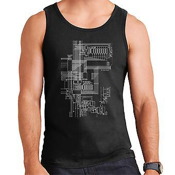 ZX Spectrum Computer Schematic Men's Vest
