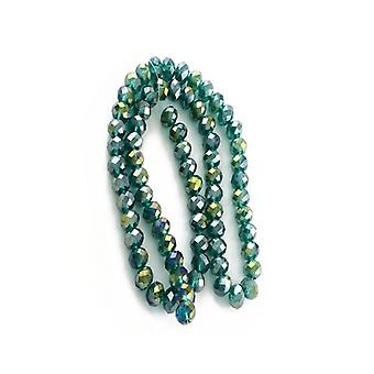Strand 70+ Dark Green Czech Crystal Glass 6mm AB Faceted Round Beads HA20130