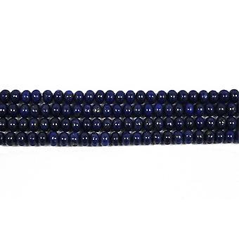 Nitką 60 + niebieski Lapis Lazuli 6 x 8mm barwiona zwykły Rondelle koraliki CB46397