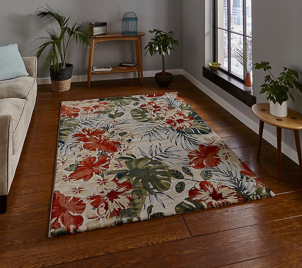 Tropiques 6096 crème Multi Rectangle tapis tapis Funky