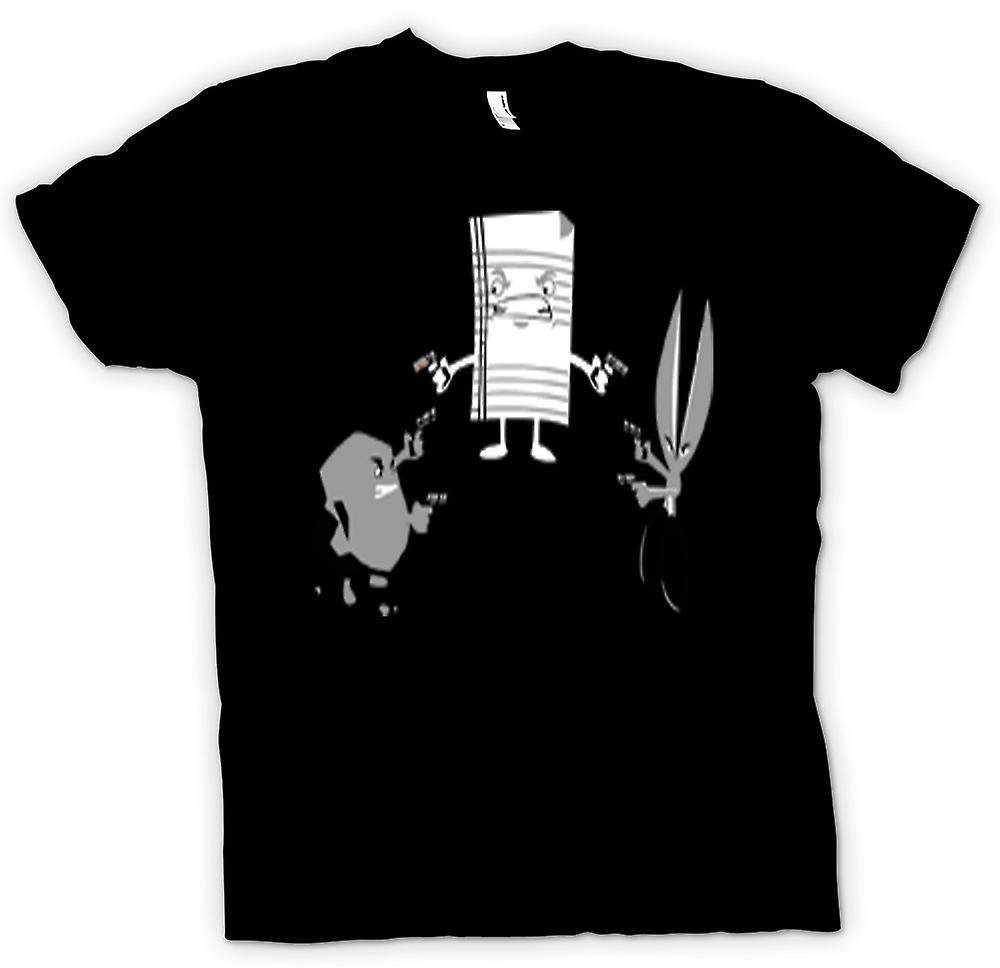 Mens T-shirt - Rock Paper Scissors Shoot - Out