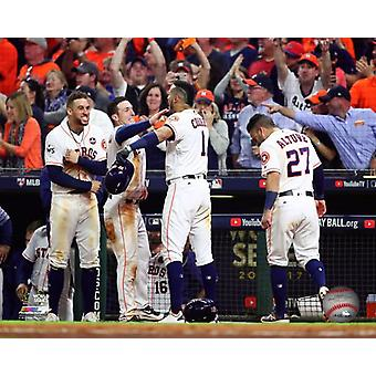 Carlos Correa Alex Bregman George Springer & Jose Altuve Game 5 of the 2017 World Series Photo Print