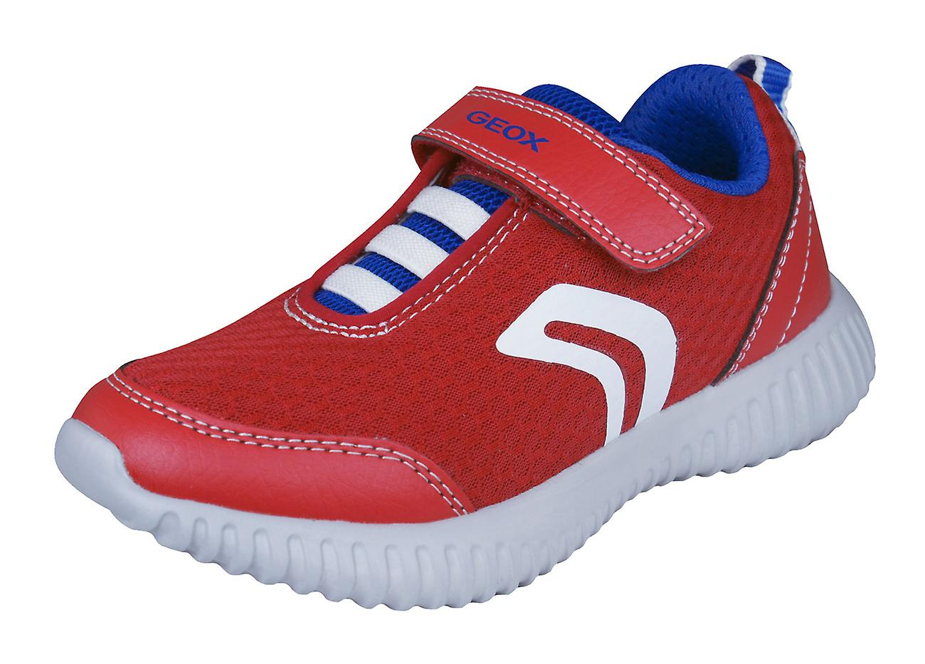 Geox Boys Casual Trainers J Waviness B.A Casual Boys Shoes - Red dd768f
