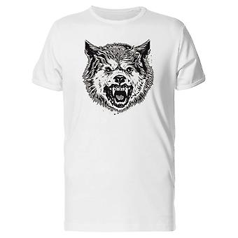 Wolf With Big Fangs Tee Men's -Image by Shutterstock