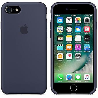 Original packaging Apple silicone Micro Fiber cover case for iPhone 8 / 7 - Midnight Blue