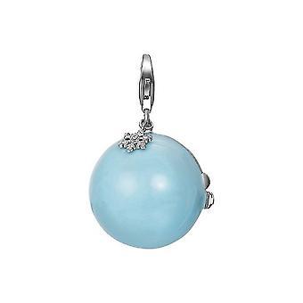 魅力のエスプリ ペンダント シルバー クリスマス ボール ESCH91113A000