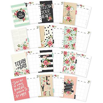 Carpe Diem Bloom Double-Sided A5 Planner Inserts-Monthly, Undated