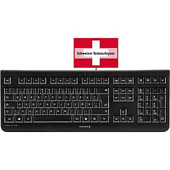 USB keyboard CHERRY KC 1000 Black Swiss, QWERTZ, Windows®
