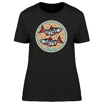 Vintage Salmon Fishes Tee Women's -Image by Shutterstock
