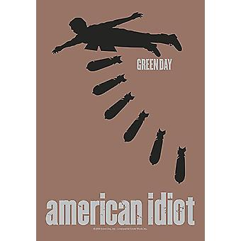 Green Day American Idiot Large Fabric Poster / Flag 1100Mm X 750Mm