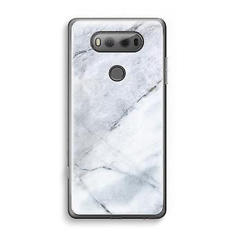 LG V20 gennemsigtig sag (Soft) - marmor hvid