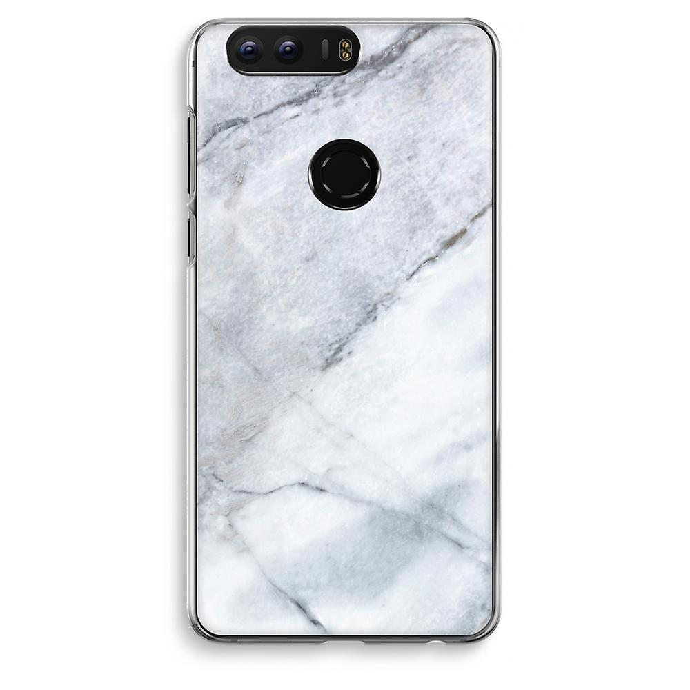 Honor 8 Transparent Case (Soft) - Marble white