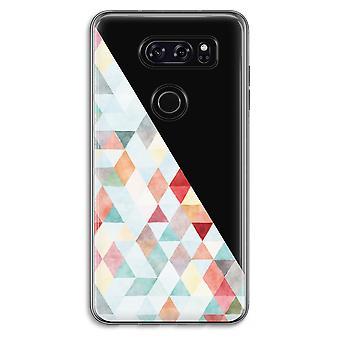 LG V30 Transparent Case (Soft) - Coloured triangles pastel