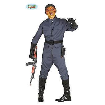 Zombie soldier soldier costume Halloween costume mens zombie costume