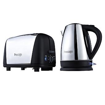 Prestige Stainless Steel Electric Kettle Toaster Breakfast Set (53232)