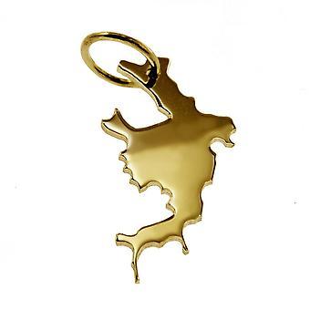 Anhänger Landkarte Kettenanhänger in gold gelb-gold in der Form von BORA-BORA