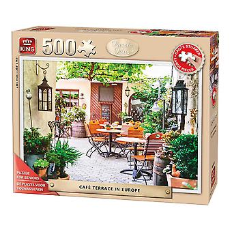 King Cafe terrasse i Europa Jigsaw Puzzle (500 stykker for XL)
