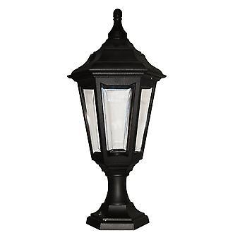 Elstead belysning Kinsale 6 sidet udendørs piedestal lys i sort