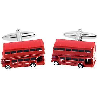 Zennor London Bus Manschettenknöpfe - rot/schwarz/weiß