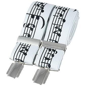 Notas de música clásica de David Van Hagen moda abrazadera - blanco/negro