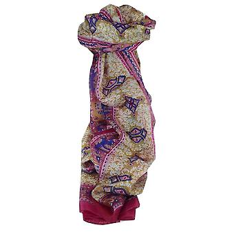 Mulberry Silk Traditional Long Scarf Rei Pink by Pashmina & Silk