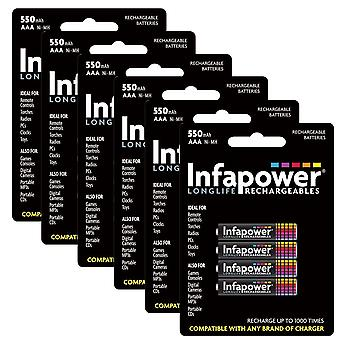 24 x Infapower B009 Rechargeable AAA Ni-MH Batteries 550mAh